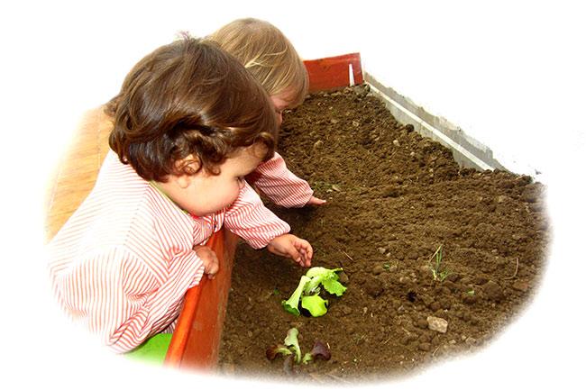 educación en el centro infantil trastes
