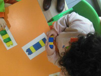 Alumnos de 2 a 3 años ya trabajando con series