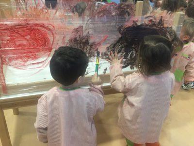 Desarrollo de la coordinación óculo-manual con pintura y film