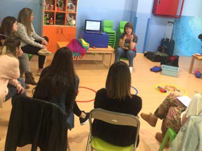 Formación sobre música para nuestras educadoras de Las Tablas y Paracuellos