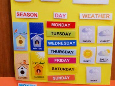 ¿Os animáis a practicar vocabulario del calendario en inglés?